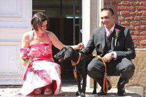 Unser Hund ist bei unserer Hochzeit dabei!
